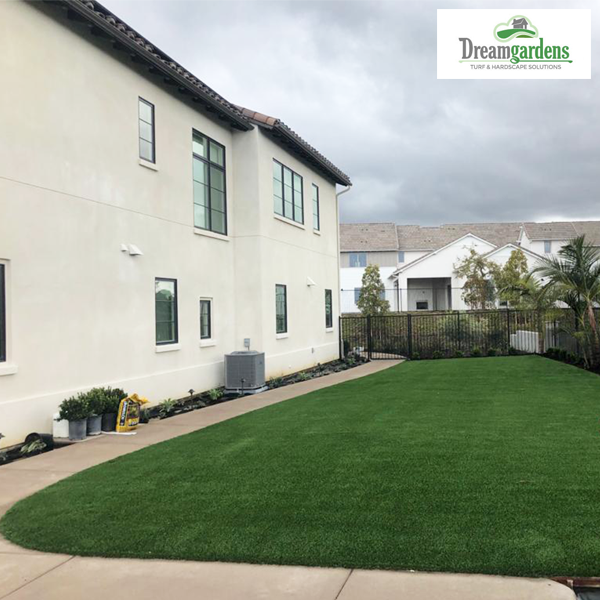 Synthetic turf patio