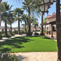 Landscape-artificial turf