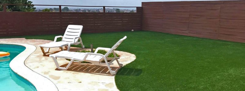 Synthetic Turf in pool area, San Diego